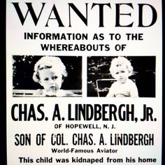 The Lindbergh Baby is Kidnapped: On the evening of March 1st of 1932, the infant son of world famous aviator Charles Lindbergh is Kidnapped from his crib in the family home. The entire country is enthralled and a manhunt is launched to catch the perpetrators. #babettebombshell #hauntedhotel #unsolvedmysteries #truecrime #thelindbergbaby