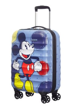 Palm Valley Disney 4-wheel cabin baggage Spinner suitcase 40x55x20cm Mickey Style