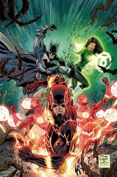 Batman, The Flash and Green Lantern (Justice League Marvel Comics, Dc Comics Heroes, Hq Marvel, Arte Dc Comics, Dc Comics Characters, Rogue Comics, Aquaman, Teen Titans, Comic Wallpaper
