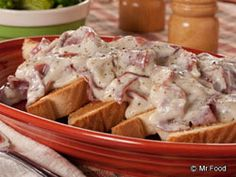 Chipped Beef - This 1950s-style recipe is one of our favorite retro weeknight dinners. It cooks up in only 15 minutes, making this a great last-minute homemade meal.