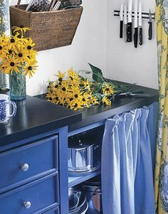 Kitchen cabinet curtains instead of doors! thinking about doing this until we can afford to get all new cabinets.... yes? no?