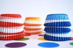 Mini Cupcake Liners 45 Assorted Swirl Baking Cups.