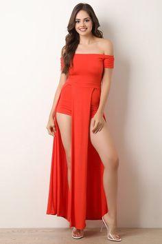 Bardot M-Slit Maxi Romper - Oralia Cortez Beautiful Girl Image, Beautiful Models, Curvy Fashion, Girl Fashion, Sexy Dresses, Fashion Dresses, Pernas Sexy, Maxi Romper, Deepika Padukone