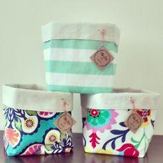 Resultado de imagen para contenedores de tela Cute Bags, Kids Decor, Ideas Para, Origami, Basket, Baby Shower, Diys, Quilts, Sewing