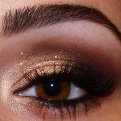 yeux bruns:
