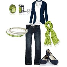 Navy & green = awesome!