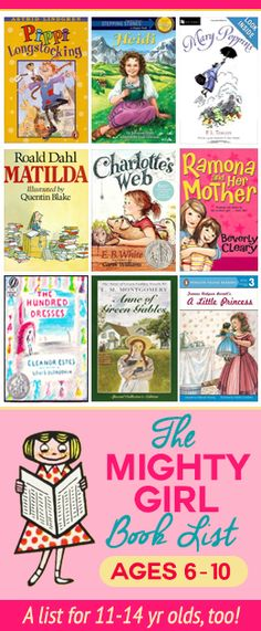 Reading list for girls @Vanessa Samurio Worrall and Kat Arthur maybe books for Katherine?