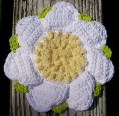 Ravelry: Scrubby Daisy Dishcloth pattern by Lily Sugarn Cream and Bernat Design Studio
