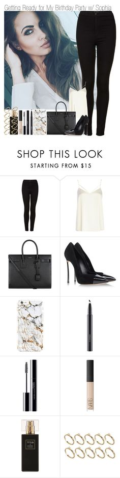 """""""ITS MY BIRTHDAY!!~ Getting"""" by elise-22 ❤ liked on Polyvore featuring Topshop, River Island, Yves Saint Laurent, Casadei, MAC Cosmetics, shu uemura, NARS Cosmetics, Robert Piguet, ASOS and birthday"""