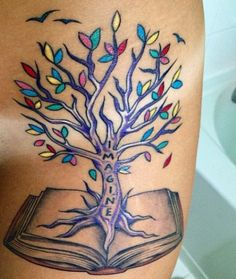 Another great concept, roots of the tree growing out from the book, id put a Cjestin in place of imagine