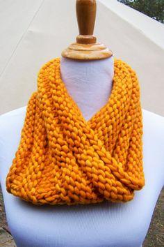 SALE    Stacy Glow Cowl Hand Knit in Deep by MulberrySkyStudio