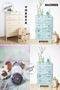 Vintage Shabby Chic Dresser Tutorial | https://diyprojects.com/12-diy-shabby-chic-furniture-ideas/