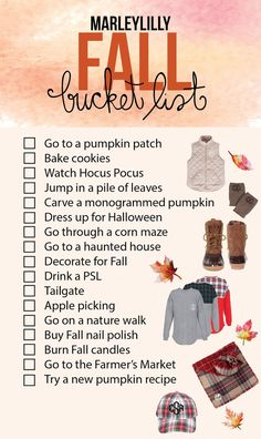 Its time for Fall meaning its time for endless activities to be done in the… halloween bucketlist Fun Fall Activities, Family Activities, Indoor Activities, Herbst Bucket List, Hallowen Costume, Marley Lilly, Fall Drinks, Happy Fall Y'all, Fall Family