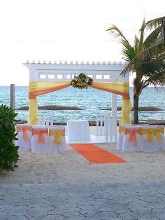 Beach wedding, El Dorado Casitas resort, Riviera Maya, Mexico https://www.facebook.com/BlissfulMoons