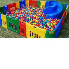 Outdoor Ball Pit Amazing Kids Playing Playroom Baby Kids