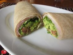 This avocado mix really kicks up a boring wrap. The key a good wrap, for me, is a quality cheese and some sort of spicy sandwich spread, like a hot mayonnaise or this avocado cilantro mixture, and fresh, crisp lettuce.