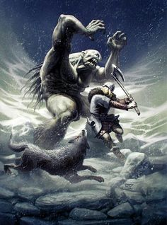 Viking vs a frost giant