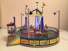 "Lemax Village Collection ""Cha Cha"" carnival ride"