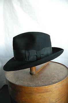 fe6185d08386a Rare 60 s Wegener Royal Bonnie   Clyde Fedora Hat Fur Felt Hat UK 7 1 8 Hut