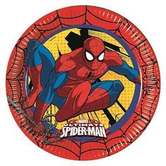 Marvel #ultimate spiderman paper party plates boys #superhero #birthday supplies,  View more on the LINK: http://www.zeppy.io/product/gb/2/302025266208/