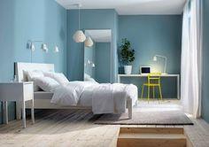 Bello dormitorio celeste