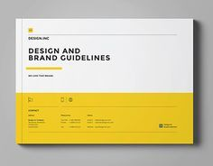 Brand Manual and Identity Template – Corporate Design Brochure – with real text!Minimal and Professional Brand Manual and Identity Brochure template for creative businesses, created in Adobe InDesign in International DIN and US Letter format. Web Design, Book Design, Layout Design, Cover Design, Design Guidelines, Brand Guidelines, Corporate Identity, Corporate Design, Identity Branding