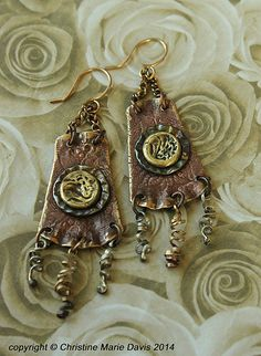NEW....gypsy pocketbook smashed button by Christine Marie Davis