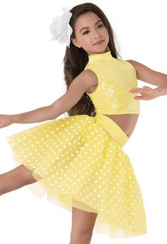 Weissman™ | Two-Piece Sequin Crystal Dot Tulle - solo costume 2015-2016