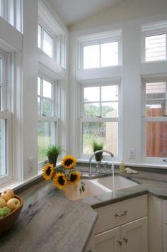 1000 images about corner kitchen windows on pinterest - Corner windows in kitchen ...