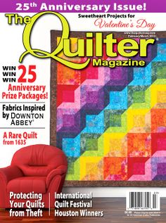 The February/March 2014 issue of The Quilter Magazine is on sale today wherever quilting magazines are sold and also at www.thequiltermag.com!