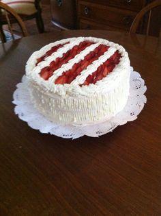 Torta merengue-frutilla