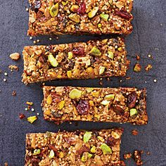 Cranberry-Pistachio Energy Bars Recipe