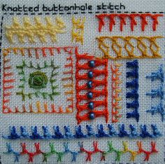 knotted buttonhole sampler