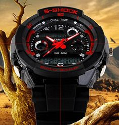 fanmis s shock military analog digital display multi function dual time watch #watches #wristwatch #fashion