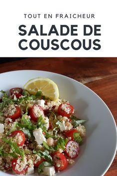 Salade de couscous aux tomates et feta  ! Parfaite pour l'été !  #recette #facile #salade #feta #tomates #salad #tomato #cheese #basilic #basil #recipe