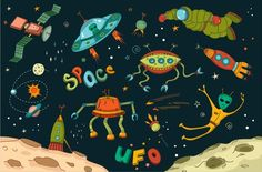 Outer Space Design Elements ~ Graphics on Creative Market