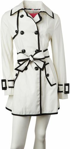 Cotton Kiss Piped Spring Trench