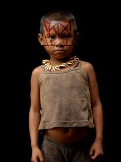 Child of the Nukak Maku tribe in the Amazon...the last Nomad tribe in Colombia