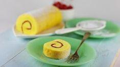 Bolu Gulung Dasar by Fatmah Bahalwan Bahan: 15 btr kuning telur 150 gr gula pasir 75 gr tepung terigu 175 gr mentega, kocok hingga mengembang dan pucat Cara membuat: Kocok telur dan gula hingga kental, matikan mikser. Masukkan mentega kocok, aduk rata. Masukkan tepung terigu. Aduk rata. Tuang kedalam Loyang ukuran 25x35x4 cm yang sudah dioles margarine dan dialasi kertas roti, ratakan. Oven selama 15-20 menit dengan suhu 180 derajat Celsius hingga matang. Balik ke atas serbet atau kertas… Tart, Oven, Rolls, Baking, Ethnic Recipes, Food, Club, Natural, Kitchen