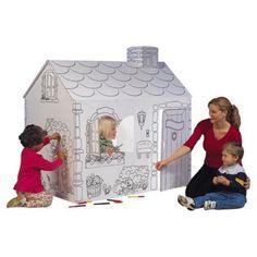 Pharmtec My Very Own House Cardboard Playhouse - MH5536R