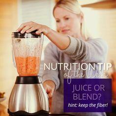 Bowflex Insider | Juice or Blend | Nutrition Tip of the Week