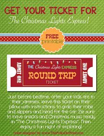 The Polka Dot Posie: All Aboard the Christmas Lights Express!