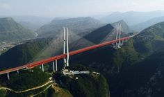 World's highest bridge: Majestic Beipanjiang Bridge stands 565 meters above a river valley in southwest China (Photo/Xinhua)