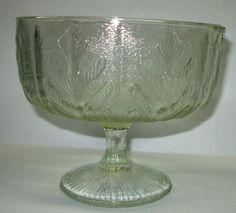 FTD 1975 Pressed Glass Compote Pedestal by Snowyowltreasures