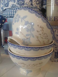 I love my French blue dishes, but to put them away just because.no, I like to use my good dishes along with my every day dishes.