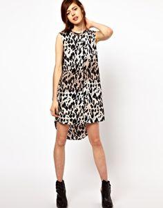 Just Female Sleeveless Animal Print Shirt