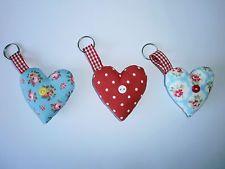 Heart keyring / bag charm in Cath Kidston or Laura Ashley fabric