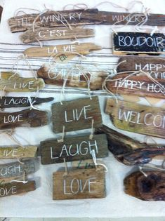 Driftwood signs, but add the Jamaican spice and flavour of colours!