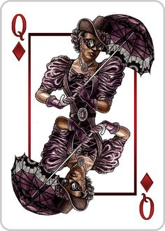 #Steampunk #Queen of Diamonds - Support This Deck of Playing Cards on #Kickstarter