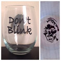 Dont Blink and Allons-y set Stemless wine glass by SimplyGlassic